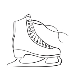 Elegant sketched ice skates isolated on white vector