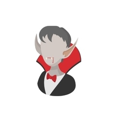 Vampire costume icon cartoon style vector
