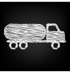 Car transports sign scribble effect vector