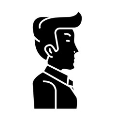 businessman manager side view icon vector image