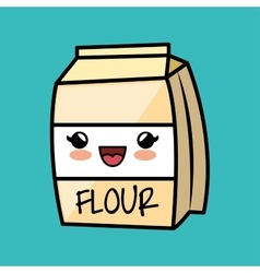 Cartoon flour cokking kitchen icon vector