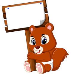 cartoon funny squirrel vector image