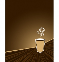 coffee rush background vector image vector image