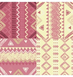 hand drawn geometric patterns vector image