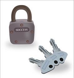 Keys of success vector image vector image