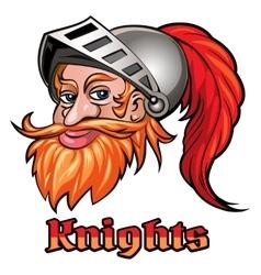 Knight in a helmet emblem vector