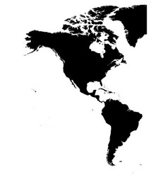 land silhouette map of americas north and south vector image