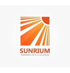 Logo symbol for travel or solarium vector