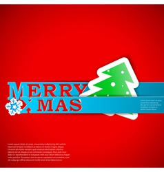 Merry Xmas strips card eps10 vector image vector image