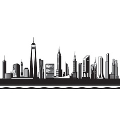 New york city silhouette by day vector