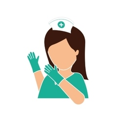 Nurse with gloves icon image vector