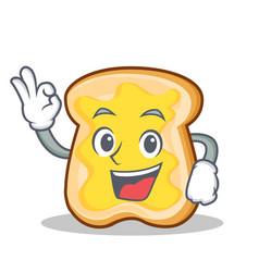 okay slice bread cartoon character vector image vector image