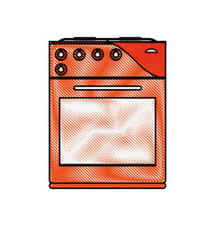 Oven stove kitchenware icon image vector