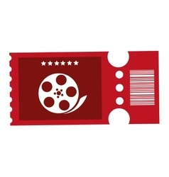 red movie ticket vector image vector image