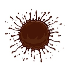 Round chocolate splash with vector image