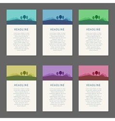 Set of templates vector image