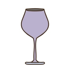 Silhouette colorful with glass of champagne sour vector