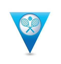 Tennis2 blue triangular map pointer vector