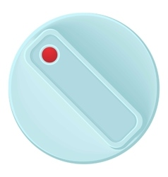 Turn control knob icon cartoon style vector