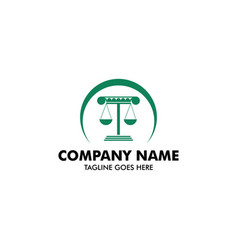 unique attorney and law logo template vector image