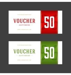 Voucher template retro design vector image