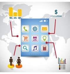 Wallpaper infographic mobile apps design vector