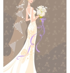 Wedding bouquet vector
