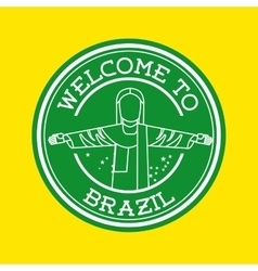 Welcome brazil isolated icon design vector