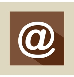 symbol mail network icon vector image