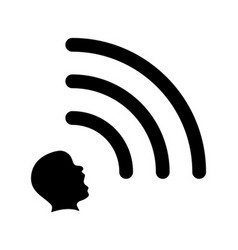 Head emits a wi-fi signal extrasensory concept vector