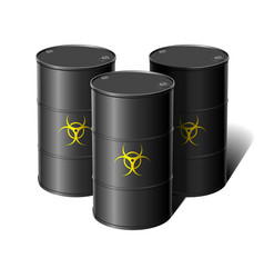 Barrel with sign biohazard vector