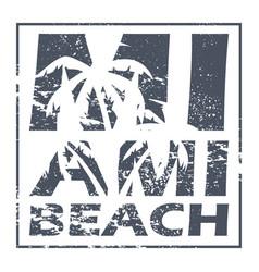 Miami beach poster vector