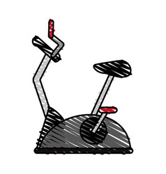 Spinning bike vector