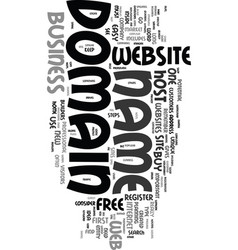 You need your own domain name text word cloud vector