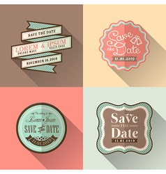 Vintage retro wedding border and frames vector