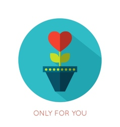 Valentines day flat isolated icon only for you vector