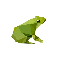Modern flat design with origami frog vector