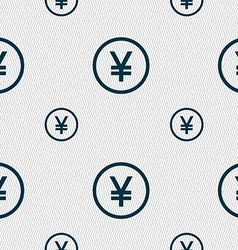 Japanese yuan icon sign seamless pattern with vector