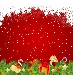 Red christmas template vector