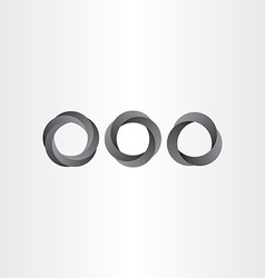 Impossible looped black circle set vector
