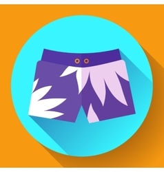 Man beach shorts icon flat design style vector