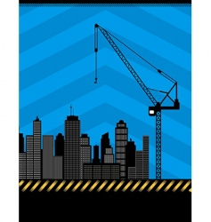Urban construction illustration vector