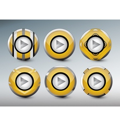 Web gold buttons vector
