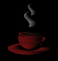 abstract red cup of tea vector image