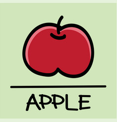 apple hand-drawn style vector image