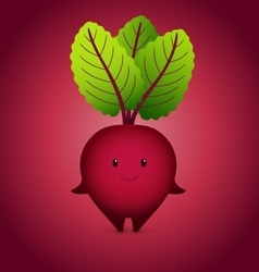 Baby Bordo Beet Cartoon Character vector image