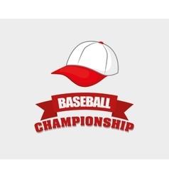 Baseball championship hat vector