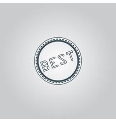Best badge label or sticker vector