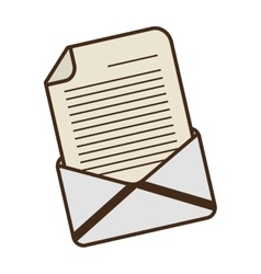 cartoon email envelope message letter vector image vector image