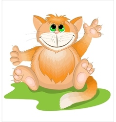Cartoon orange cat vector image vector image